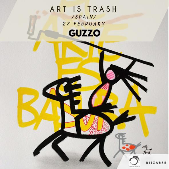 Art is Tra$h aka Francisco De Pajaro – Live Painting @ GuzzoClub